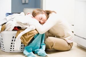 laundry mom
